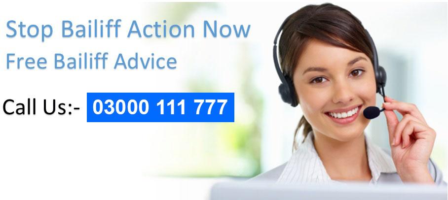 Bailiff advice and help header